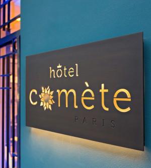 Hotelschild mit LED-Hinterleuchtung