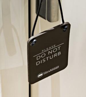 Bitte Nicht Stören Schild Hotel