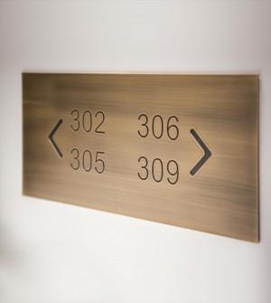 Hotel Zimmernummern Schilder