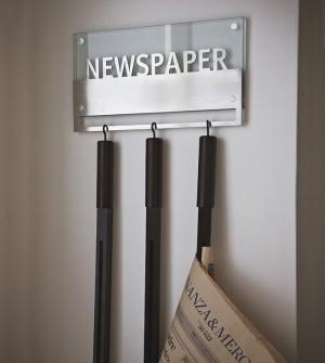 Zeitungsständer für die Wand