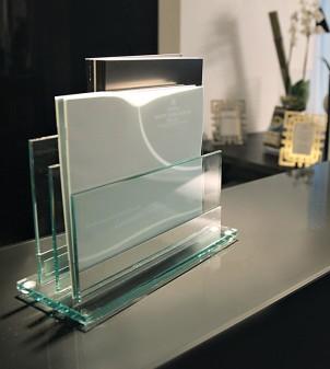 """Hotel-Tischständer für Prospekte """"Glassbs-Sml"""""""