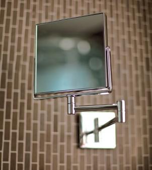 Schminkspiegel für Hotelzimmer mit Wandmontage