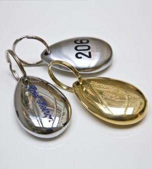Designer-Hotel Schlüsselanhänger mit Nummer