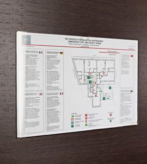 Acrylglas Rahmen für Sicherheitsplan