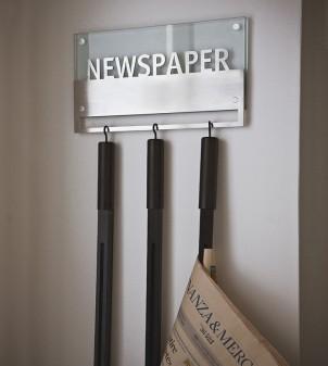 """Zeitungsständer für die Wand """"Sole"""" mit 3 Zeitungshalter"""