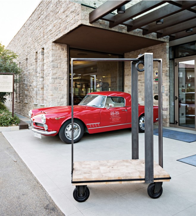Designer-Gepäckwagen für Hotels
