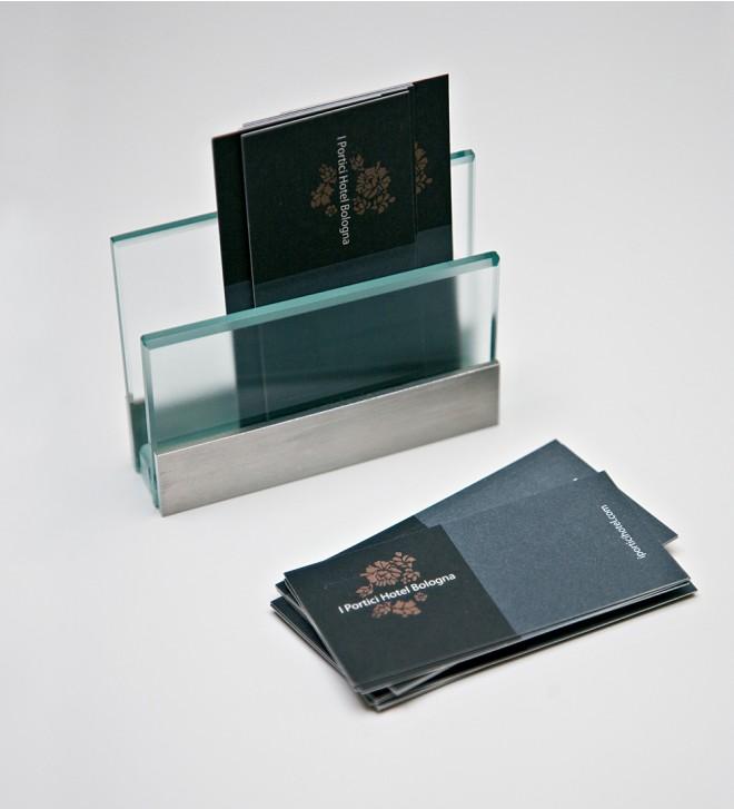 Visitenkartenhalter Glas