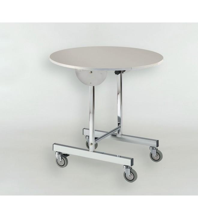 Klappbarer Tisch mit Rollen