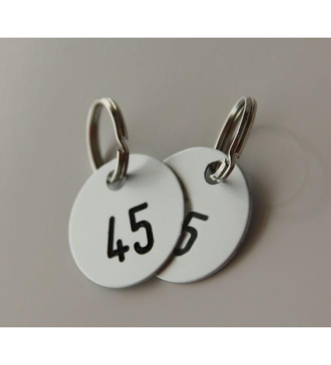 Schlüsselmarken nummeriert