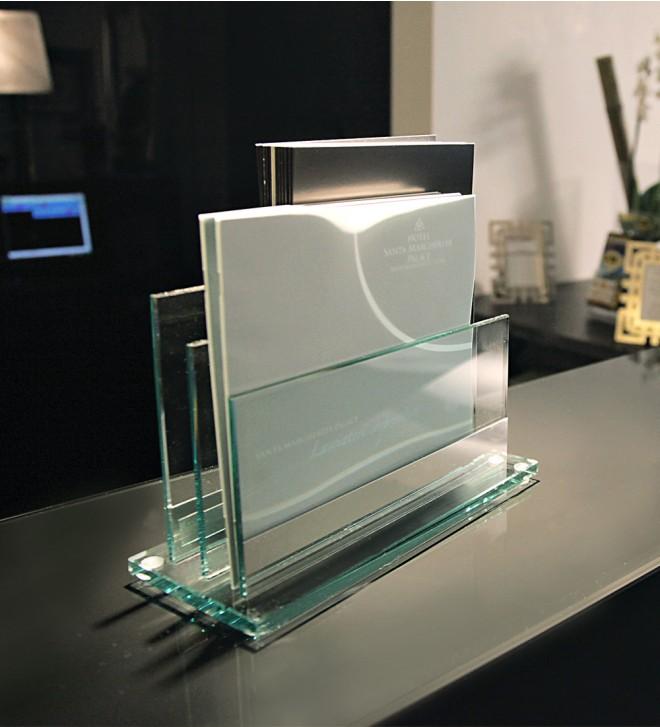 Hotel-Tischständer für Prospekte 'Glassbs-Sml'