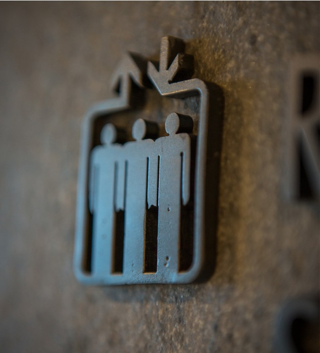Schild aus Metall