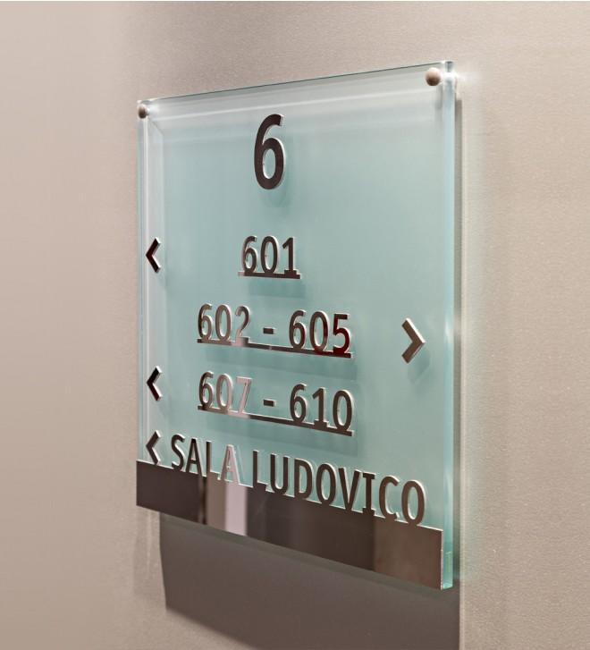 Schild aus Glas