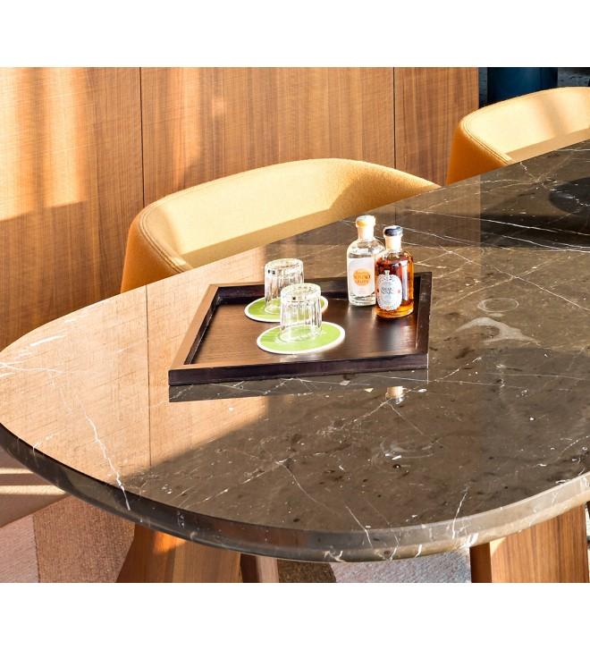 Tablett aus Holz, quadratisch
