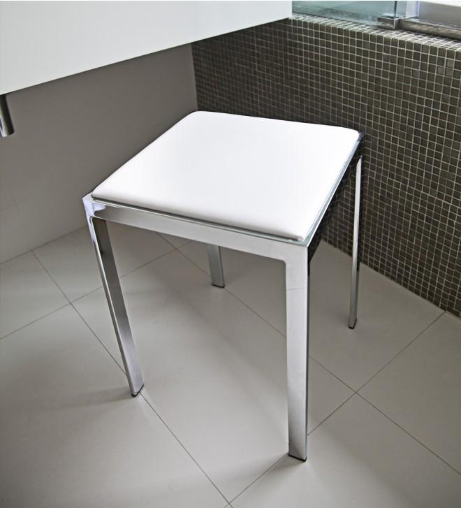 Badezimmerhocker weiß