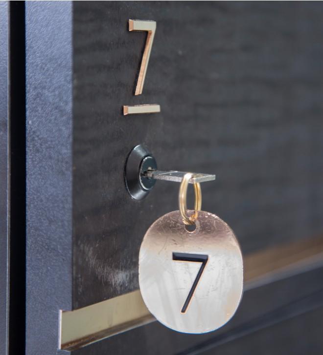 Schlüsselanhänger mit Nummern