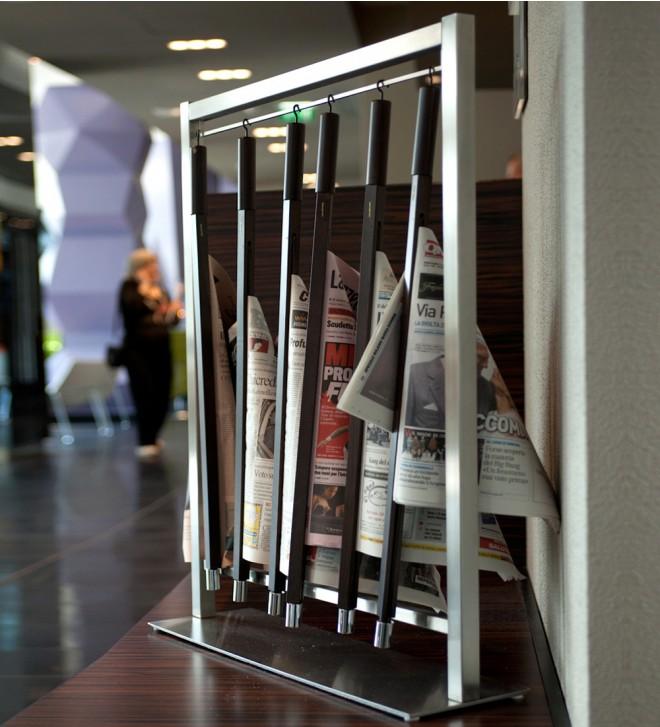 Zeitungsständer Edelstahl