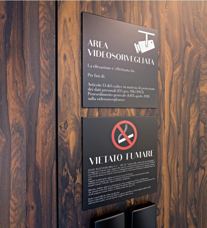 Sicherheitsschilder (nach geltender Norm) für Hotel 'Surete'