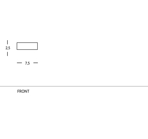 Namensschild für Hotelpersonal. Rechteckig, magnetisch. Aus Messing oder Aluminium. Personalisierbar mit Logo.