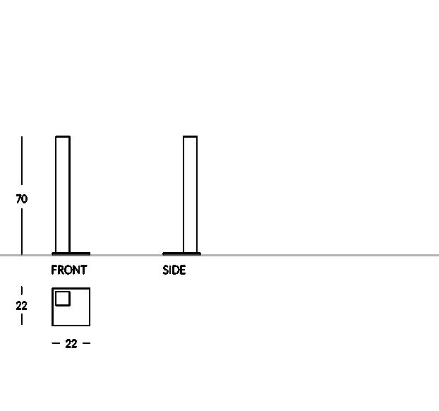 Standaschenbecher aus mattiertem Edelstahl mit quadratischem Profil und elegantem Design. Geeignet für Innen- und Außenanwendung. Ausziehbare Sandwanne für eine schnelle Reinigung.