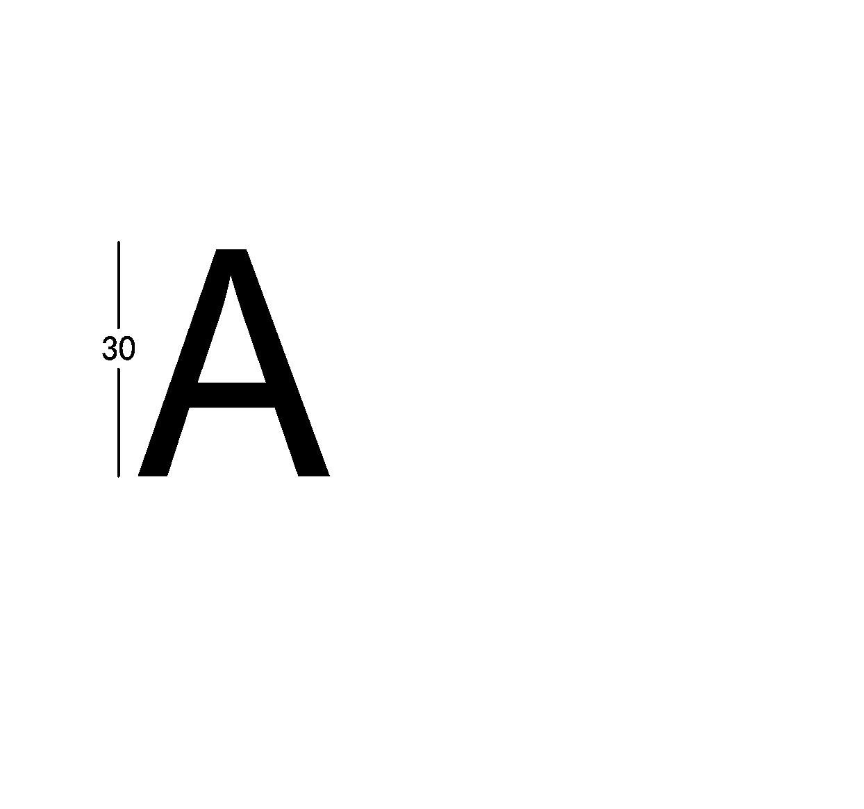 Carattere rit. h30cm/s2.5mm