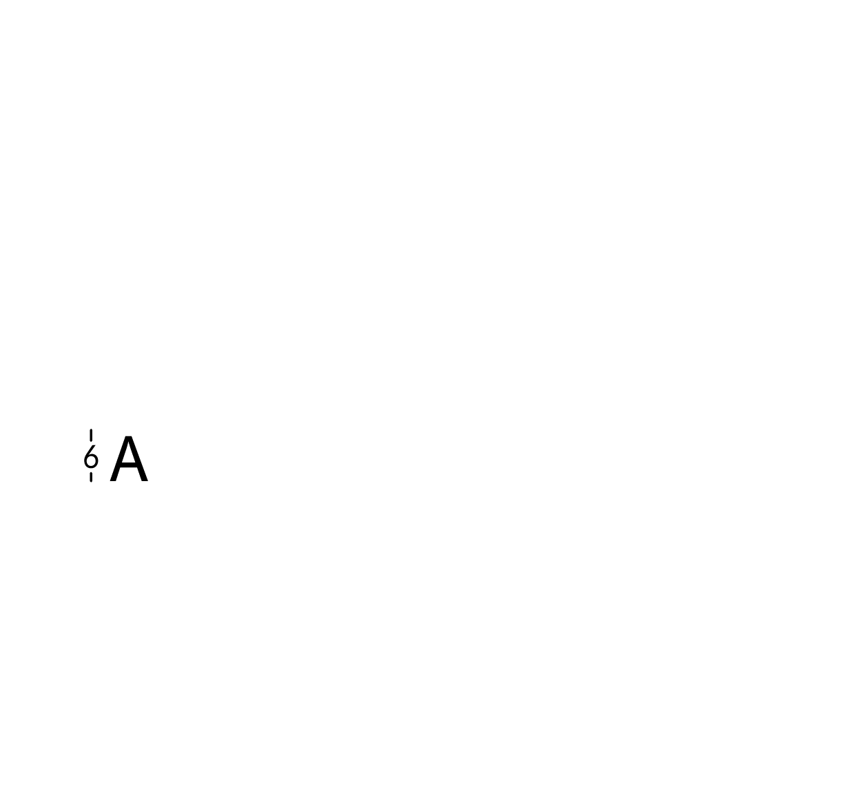 Carattere rit. h6cm/s2.5mm