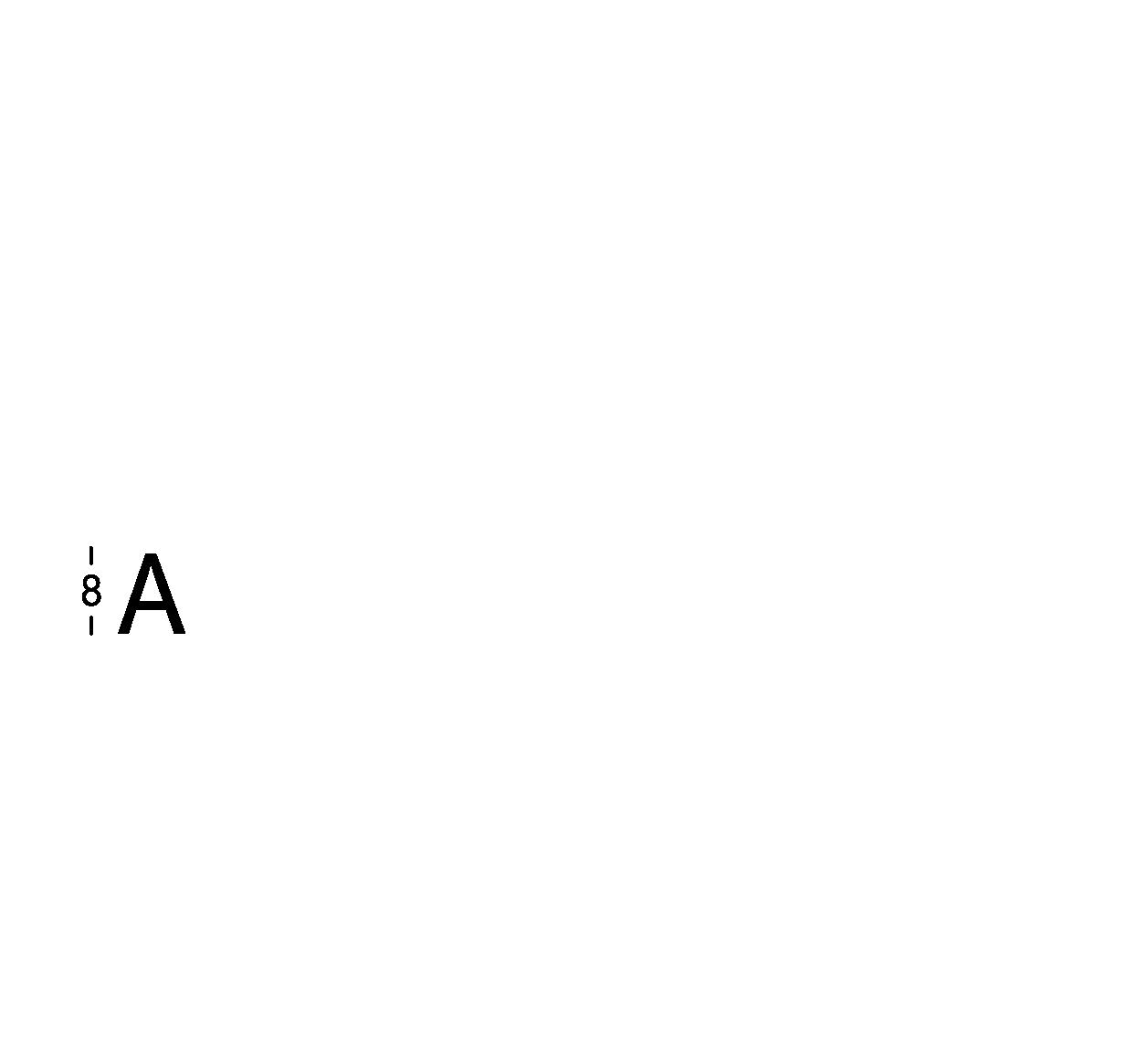 Carattere rit. h8cm/s2.5mm