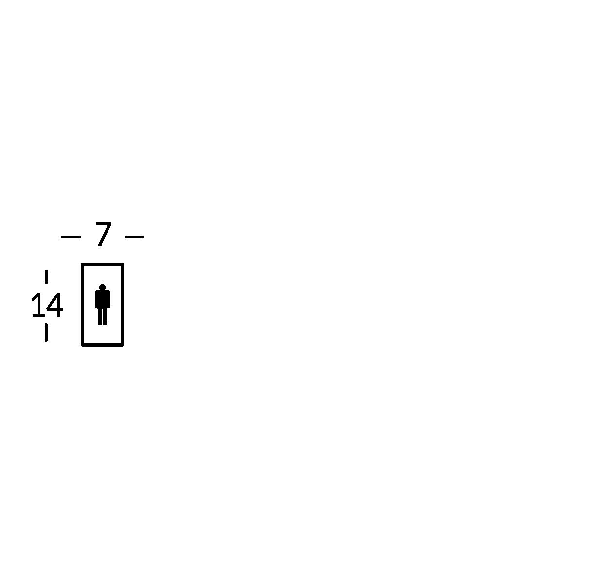 Schild mit Symbol. Linie Mosca.