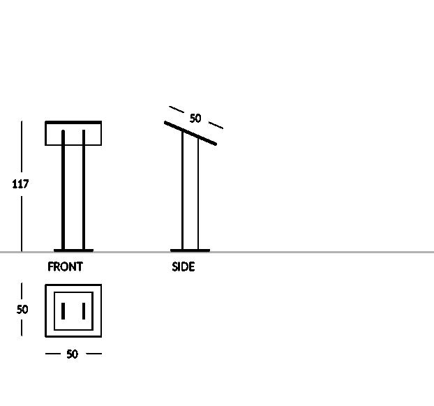 Lesepult Plexiglas