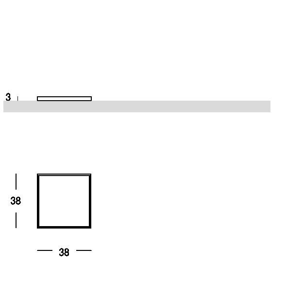 Tablett in Quadratform