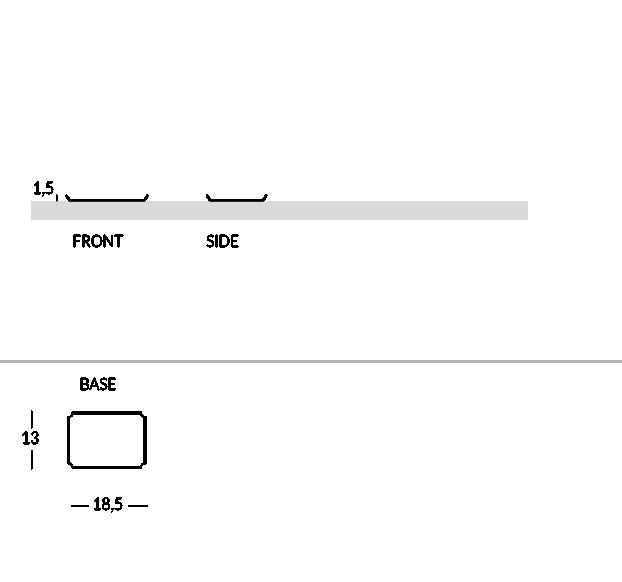 Zahlteller mit Logo