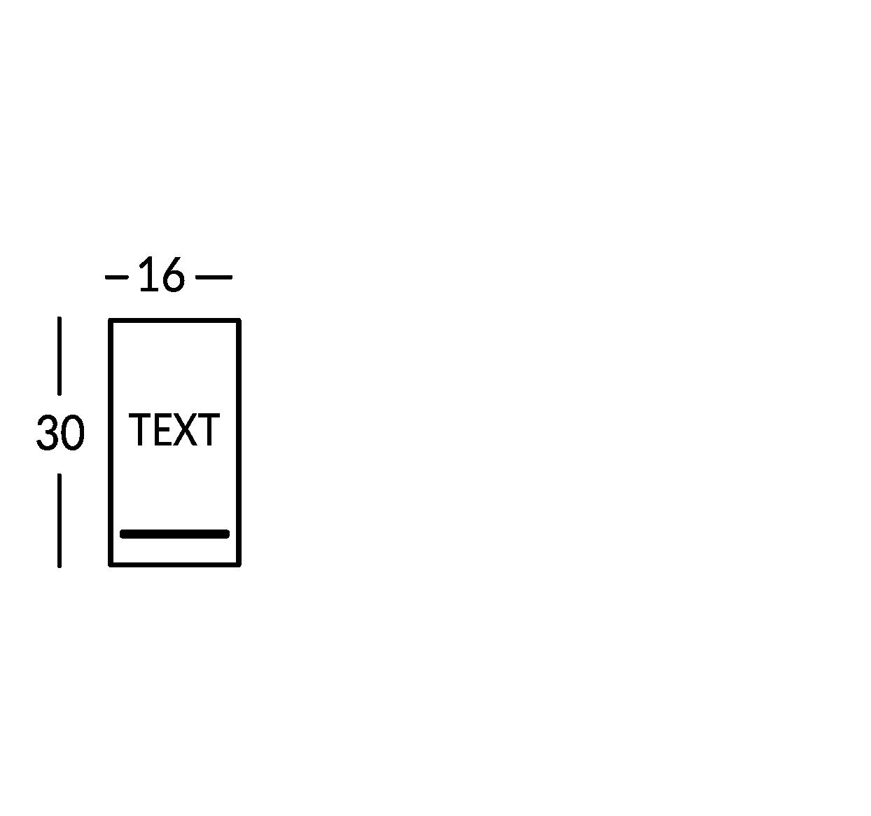 Großes Schild mit 1 Textzeile
