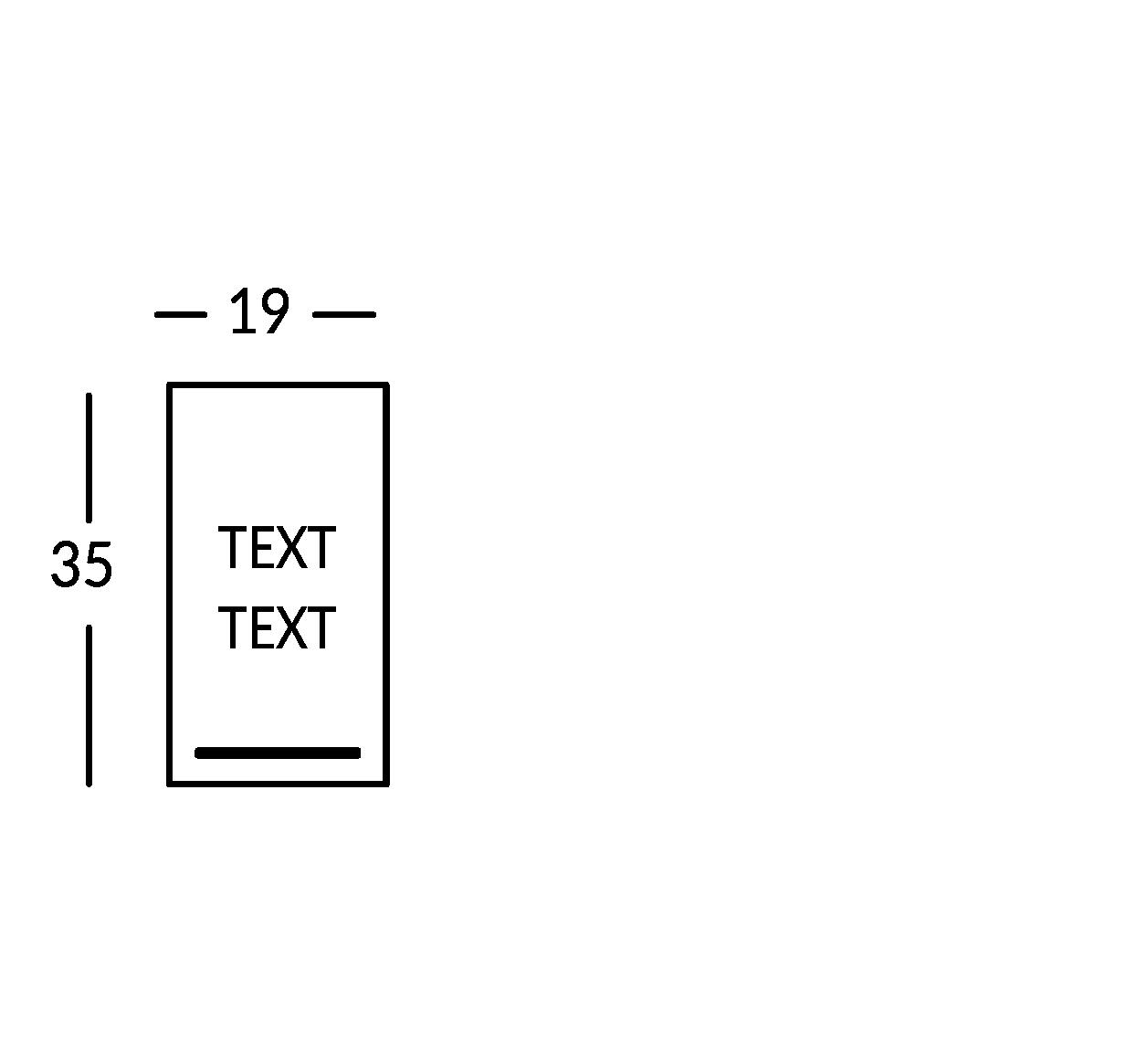 Schild mit 2 Textzeilen