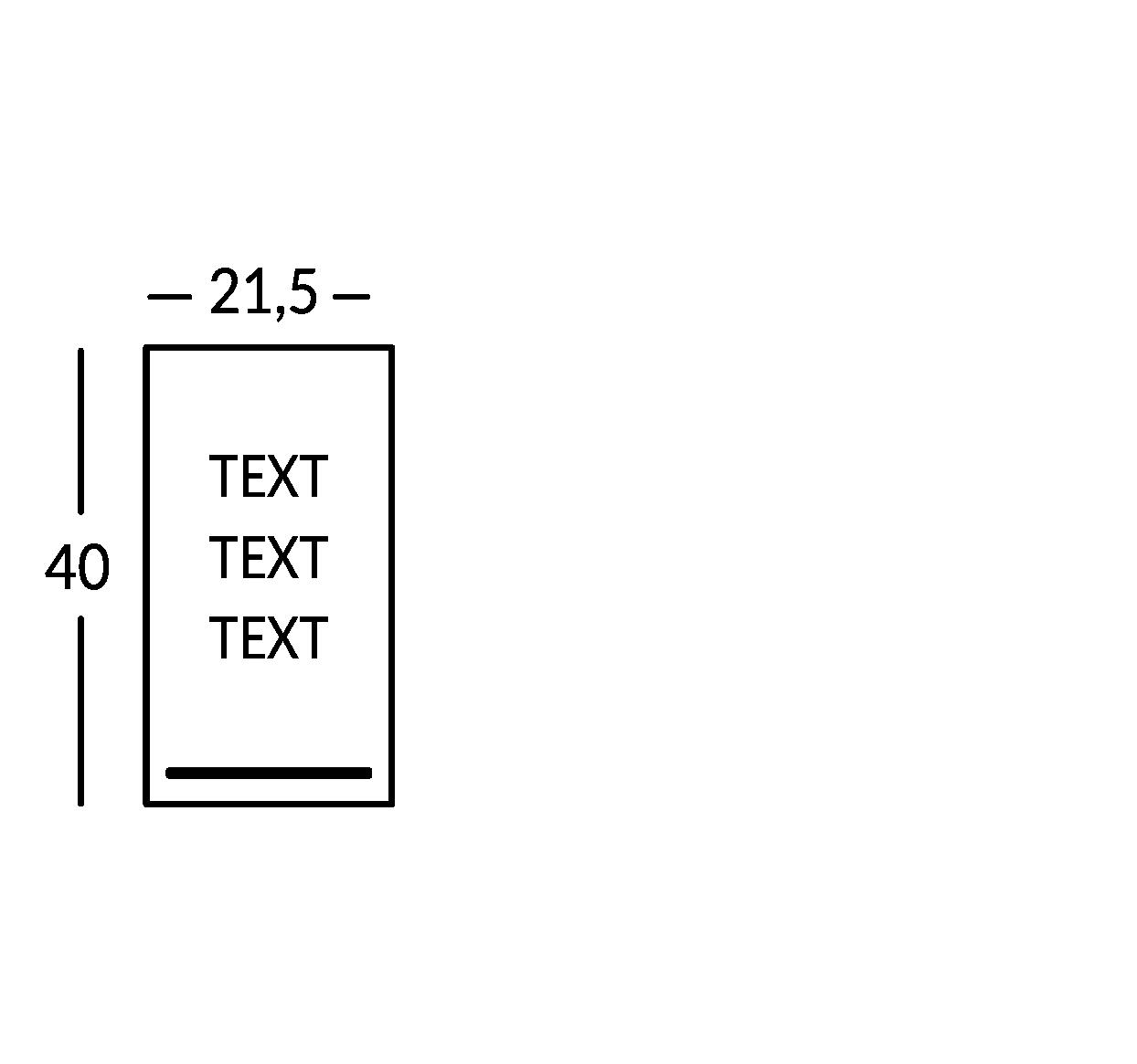Schild mit 3 Textzeilen