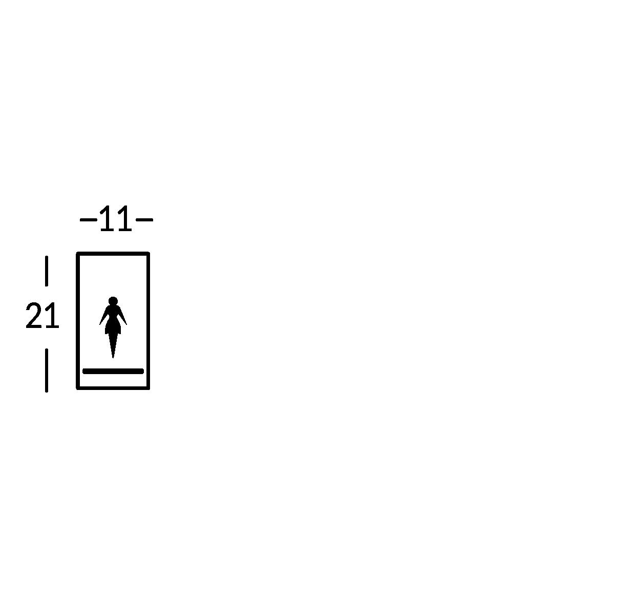 Großes Schild mit Symbol