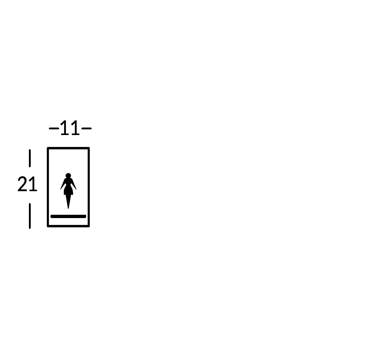 Schild mit Symbol. Linie Sav.