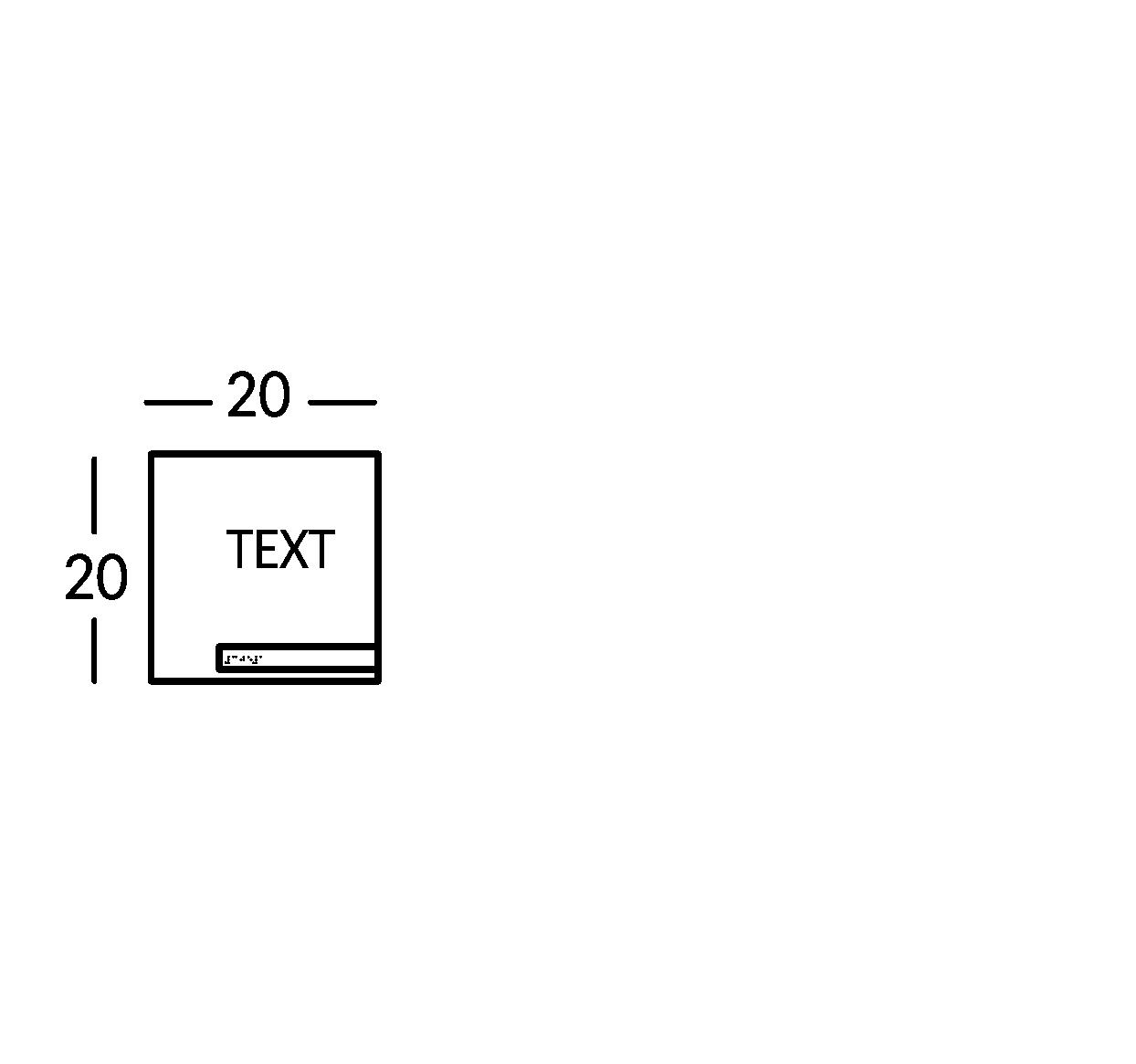 Schild mit 1 Textzeile. Linie Soho.
