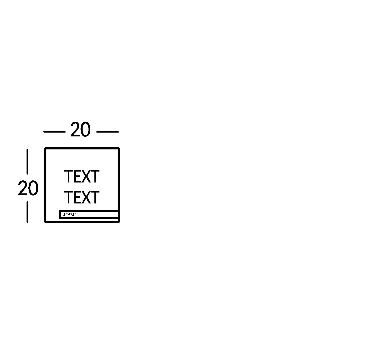 Schild mit 2 Textzeilen. Linie Soho.
