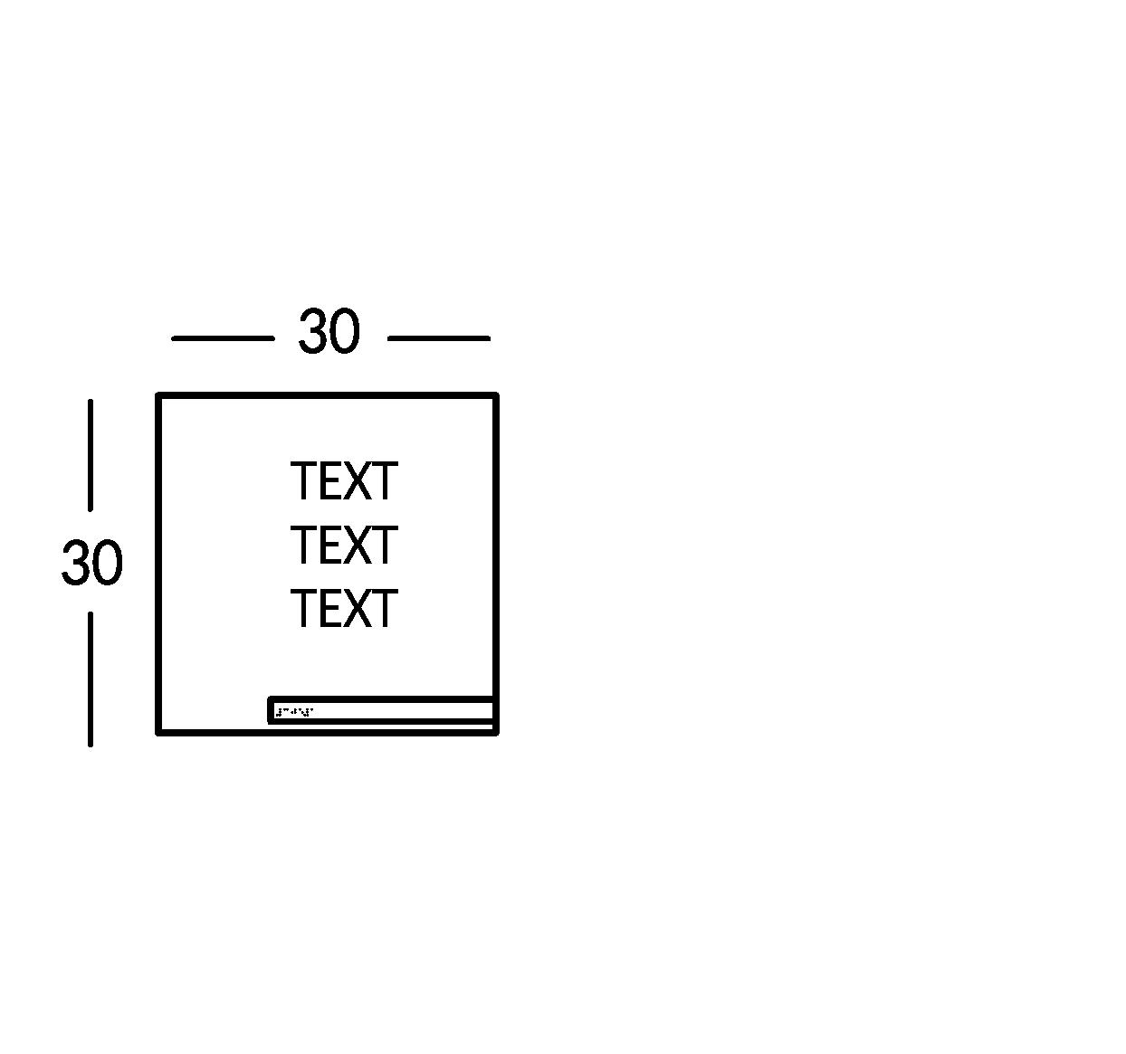 Schild mit 3 Textzeilen. Linie Soho.