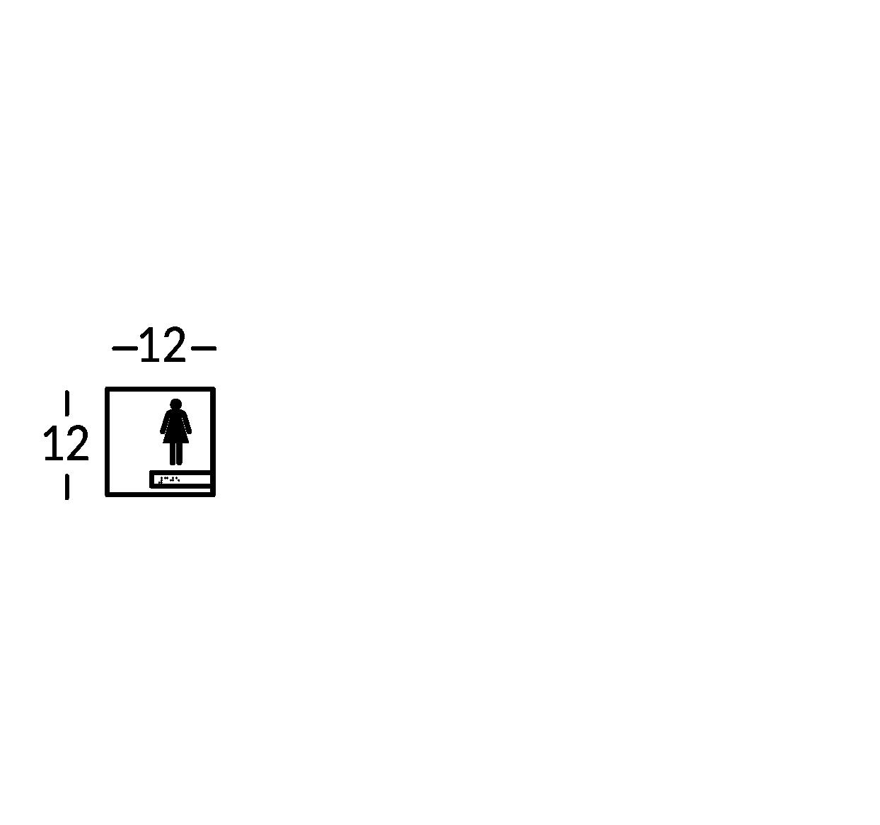 Schild mit Symbol. Linie Soho.