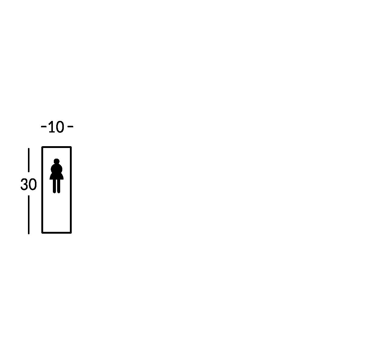 Schild mit Symbol. Linie Stripe.