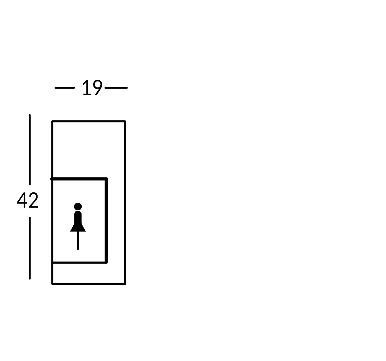 Targa con simbolo